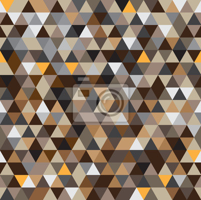 Wall mural Abstract seamless geometric patterns background with brown tone