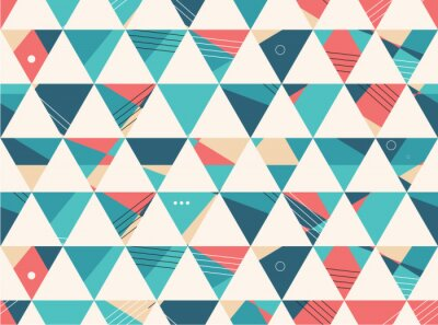 Wall mural Abstract Seamless geometric shape vector pattern