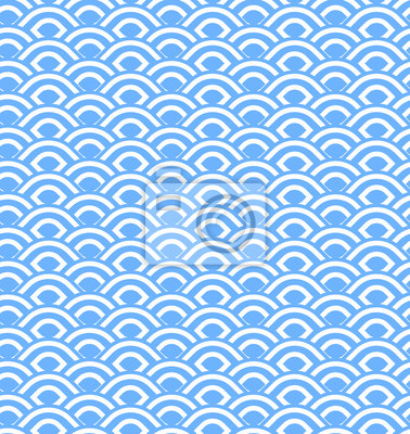 Wall mural Abstract seamless wave stripes patterns,Repeating texture tiles