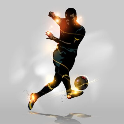 Wall mural Abstract soccer quick shooting