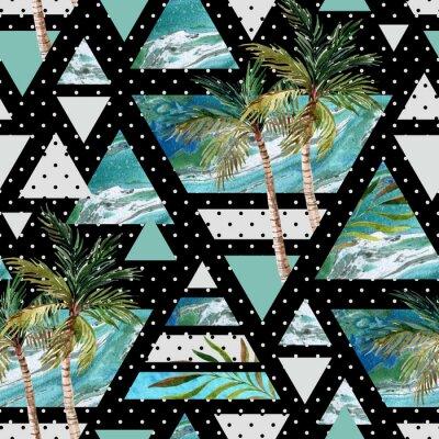 Wall mural Abstract summer geometric seamless pattern.