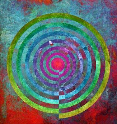 Wall mural abstrakt textur zentrum spirale