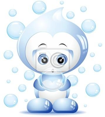 Acqua Goccia Cartoon-Water Drop Cartoon-2-Vector