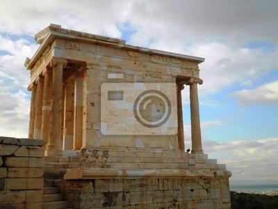 Wall mural Acropolis Temple Athens Greece