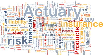 Actuary background concept