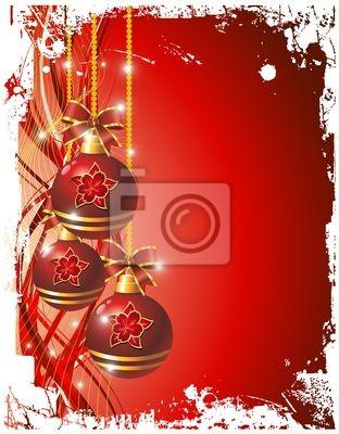 Addobbi Natalizi Sfondo-Christmas Ornaments Background