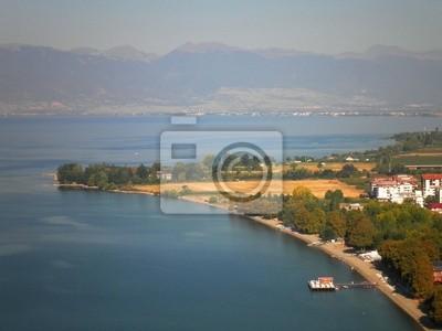 Aerial Beach Ohrid