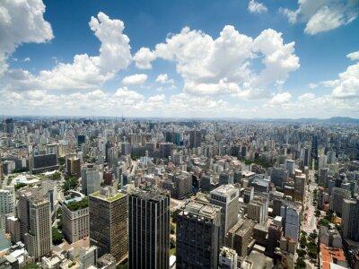 Wall mural Aerial View of Anhangabau Valley, Sao Paulo, Brazil