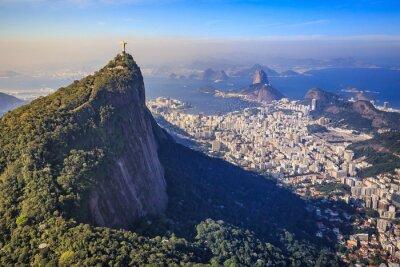 Wall mural Aerial view of Christ the Redeemer and Rio de Janeiro city