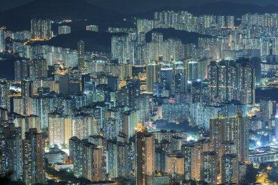 Wall mural Aerial view of Hong Kong city