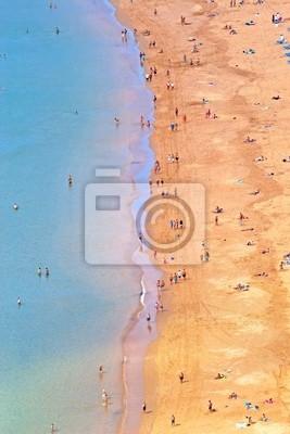Aerial view of Teresitas Beach in Tenerife