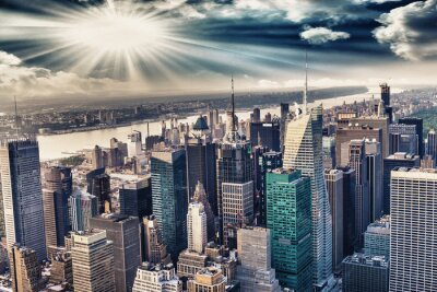 Wall mural Aerial view of the skyline of manhattan