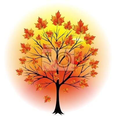 Albero Autunno-Autumn Tree-Vector