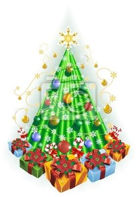 Albero di Natale-Christmas Tree-Vector