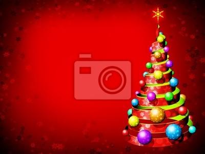 Albero Natale Sfondo-Chistmas Tree Background-Sapin Noël-3D-2