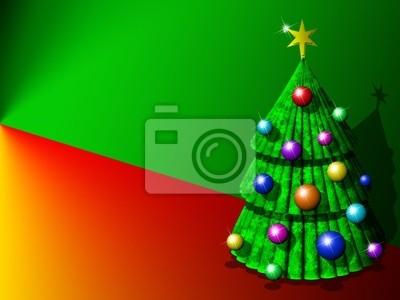 Albero Natale Sfondo-Chistmas Tree Background-Sapin Noël-3D