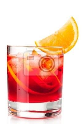 Wall mural Alcohol cocktail collection - Negroni with orange slice