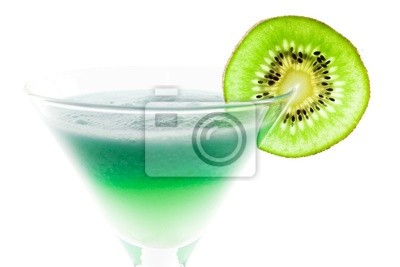 Wall mural Alcohol cocktail with kiwi slice