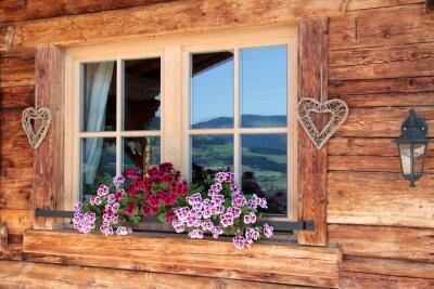 Wall mural Alpen im Fenster