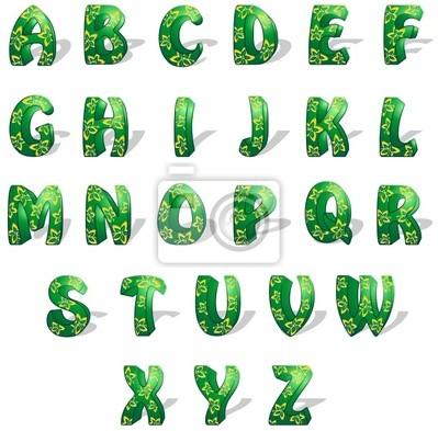 Alphabet Esotico - Exotic - Vector Alphabet