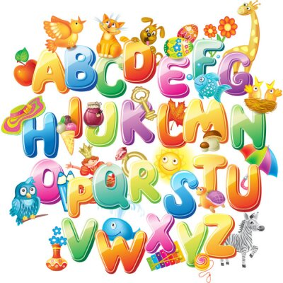 Wall mural Alphabet for kids with pictures
