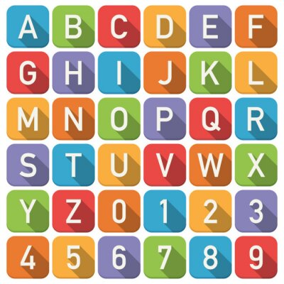 Wall mural alphabet icons
