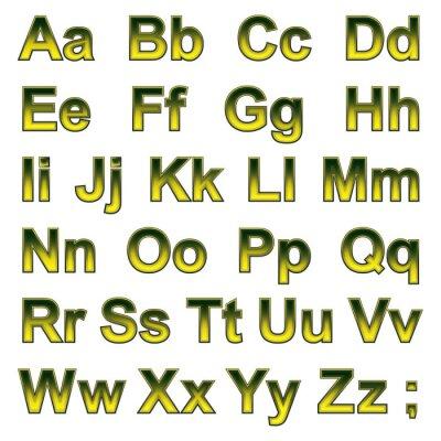 Wall mural Alphabet pseudo 3d letters