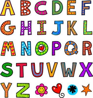 Wall mural Alphabet Text Doodle