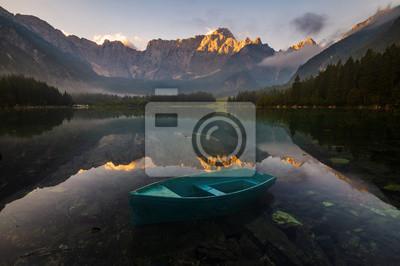 alpine lake in the Italian Alps