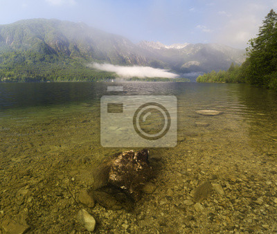 alpine lake, the Slovenian lake Bochinjsko