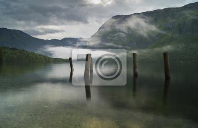 alpine mirror,lake Bochinjsko