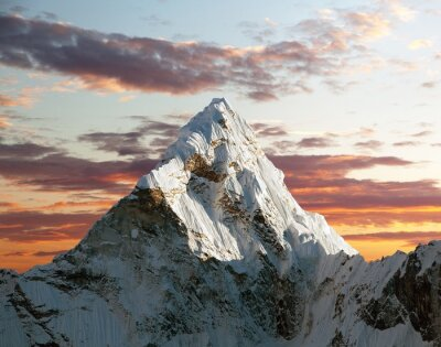 Wall mural Ama Dablam on the way to Everest Base Camp