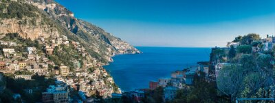 Wall mural Amalfi coast between Naples and Salerno. Italy