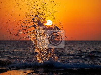 Amber splash