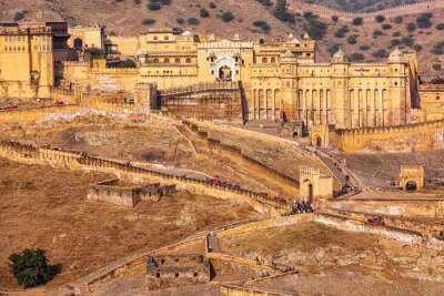 Wall mural Amer Amber fort, Rajasthan, India