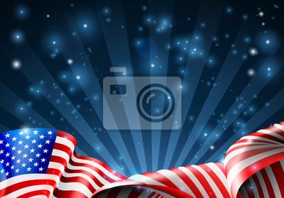 American flag patriotic or political design