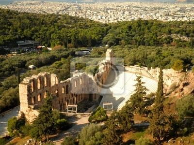 Amphitheatre Amphitheater Athens Aerial