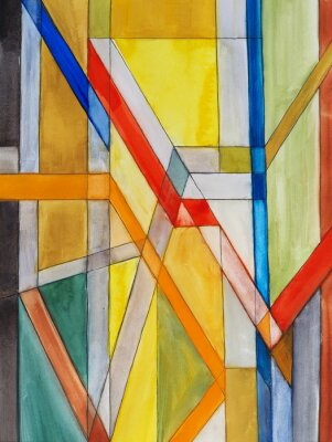 Wall mural an abstract watercolor painting