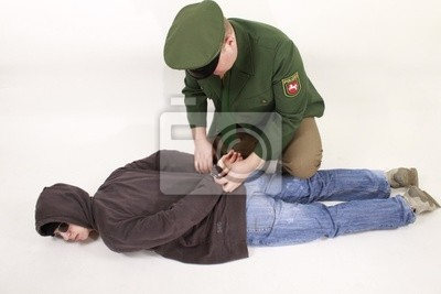 An offender is arrested