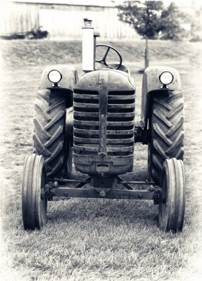 Wall mural An Old Farm Tractor - Lightly Toned