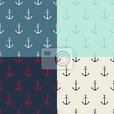 Wall mural Anchor pattern