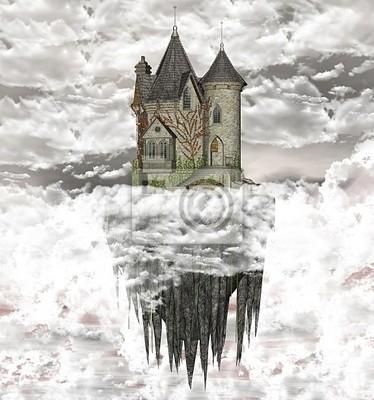 ancient castle above the clouds