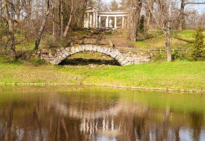 Ancient Pavlovsky park in  vicinity of St. Petersburg in spring