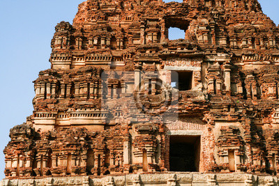Ancient ruins detail hampi india