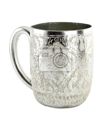 Ancient silver tableware cup