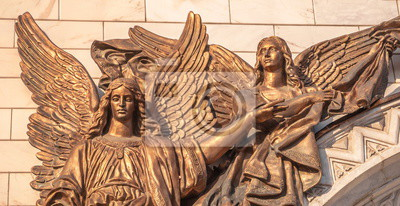 Angels and Archangels on  walls of  Cathedral of Christ  Savior