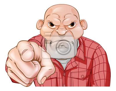 Angry Thug Pointing