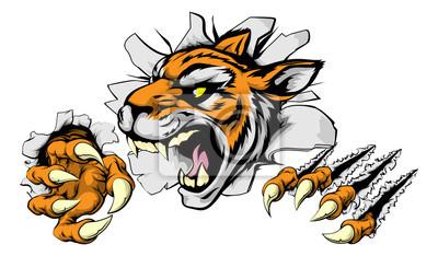 Angry Tiger sports mascot