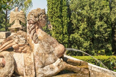 Antique fountain in  shape of  Sphinx