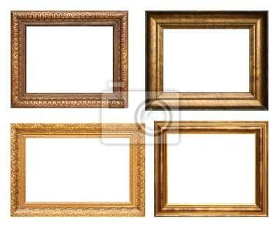 Antique picture frames, high resolution. wall mural • murals picture ...